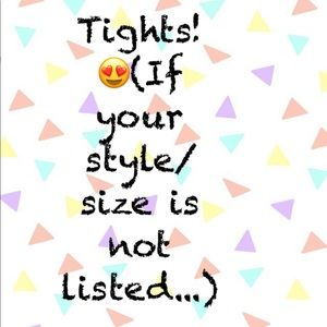 Let me know and I'll order your style, your size!